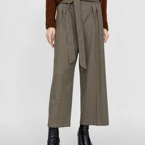Zara plaid culottes